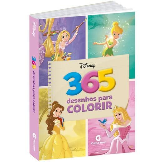 Livro Princesas da Disney com 365 Desenhos para Colorir Culturama