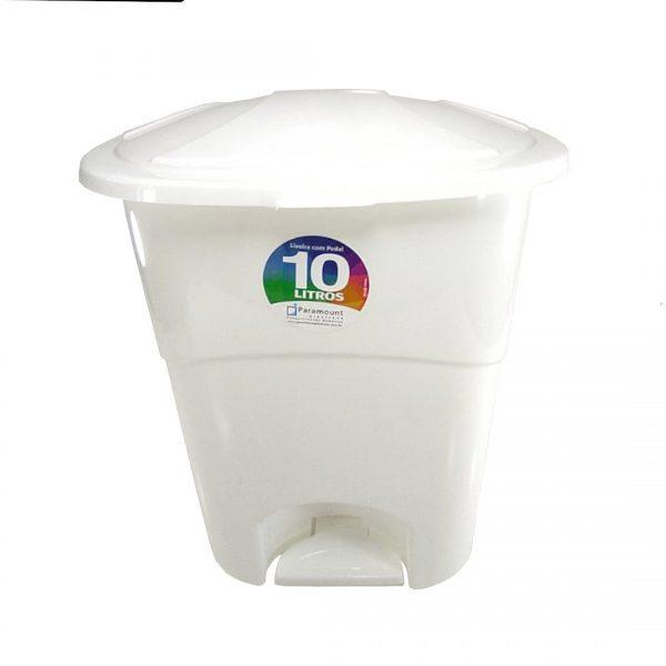 Lixeira Com Pedal Plástico 10L Paramount