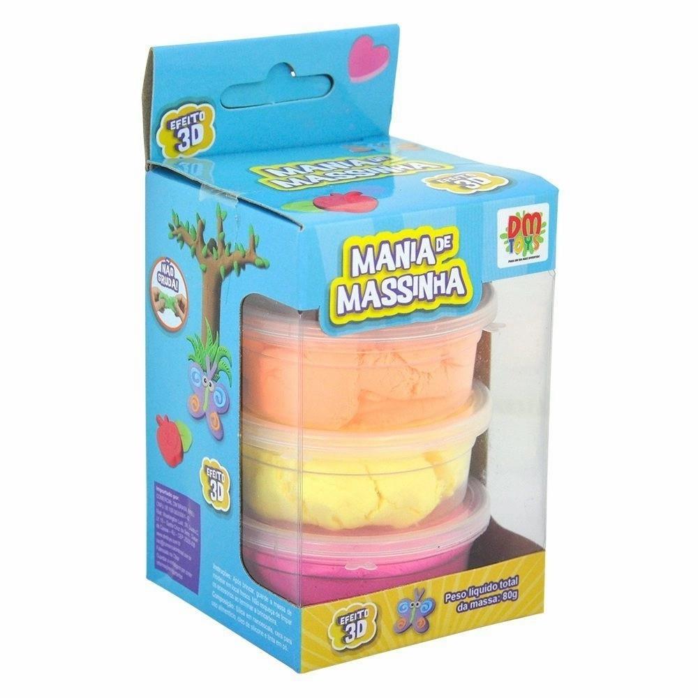 Mania De Massinha 4 Potes DM Toys