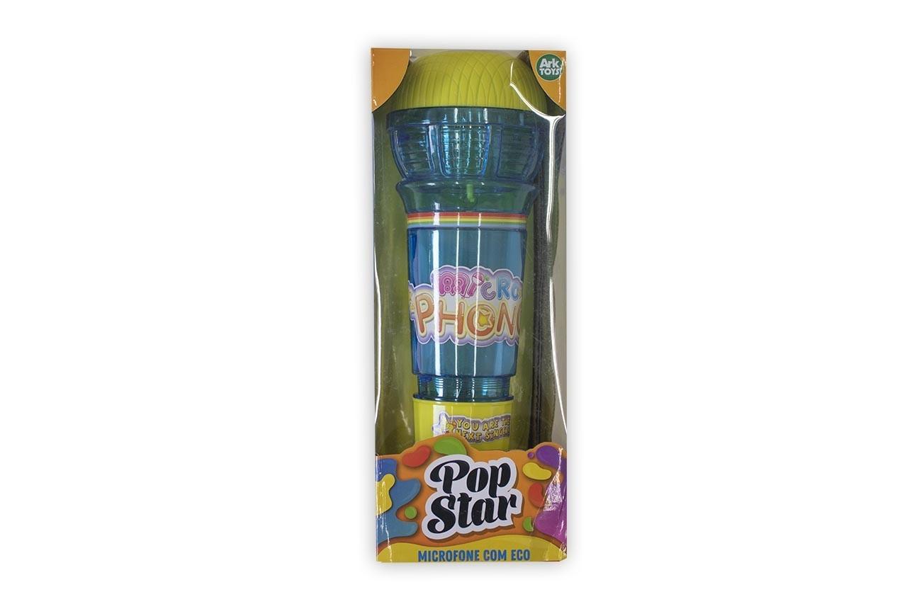 Microfone com Eco Pop Star Ark Toys