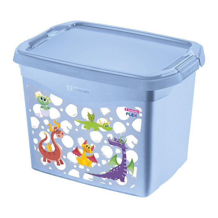Organizador Plástico 6L Azul Dragão Sanremo