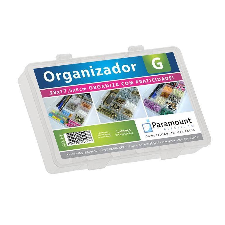 Organizador Plástico G Com 11 Compartimentos Transparente Paramount