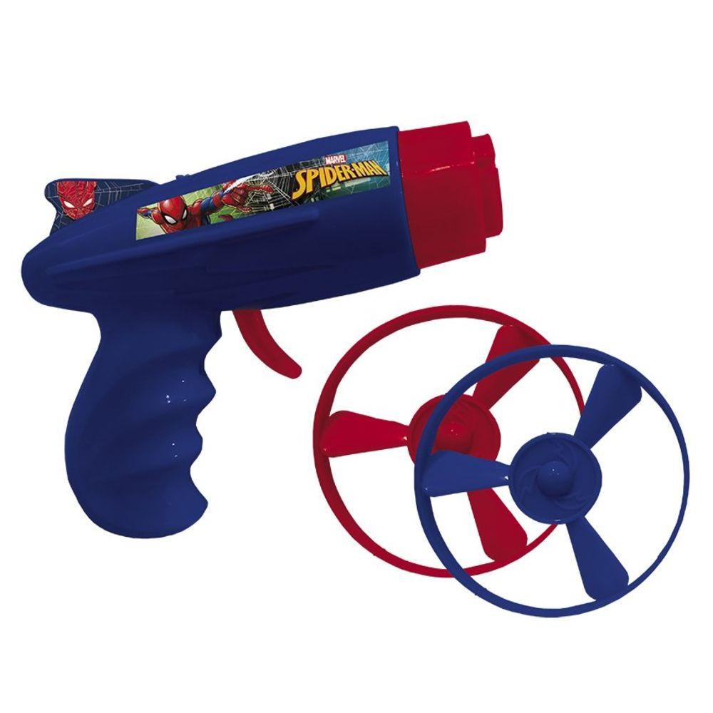 Pistola Lançador de Disco Spiderman Etilux