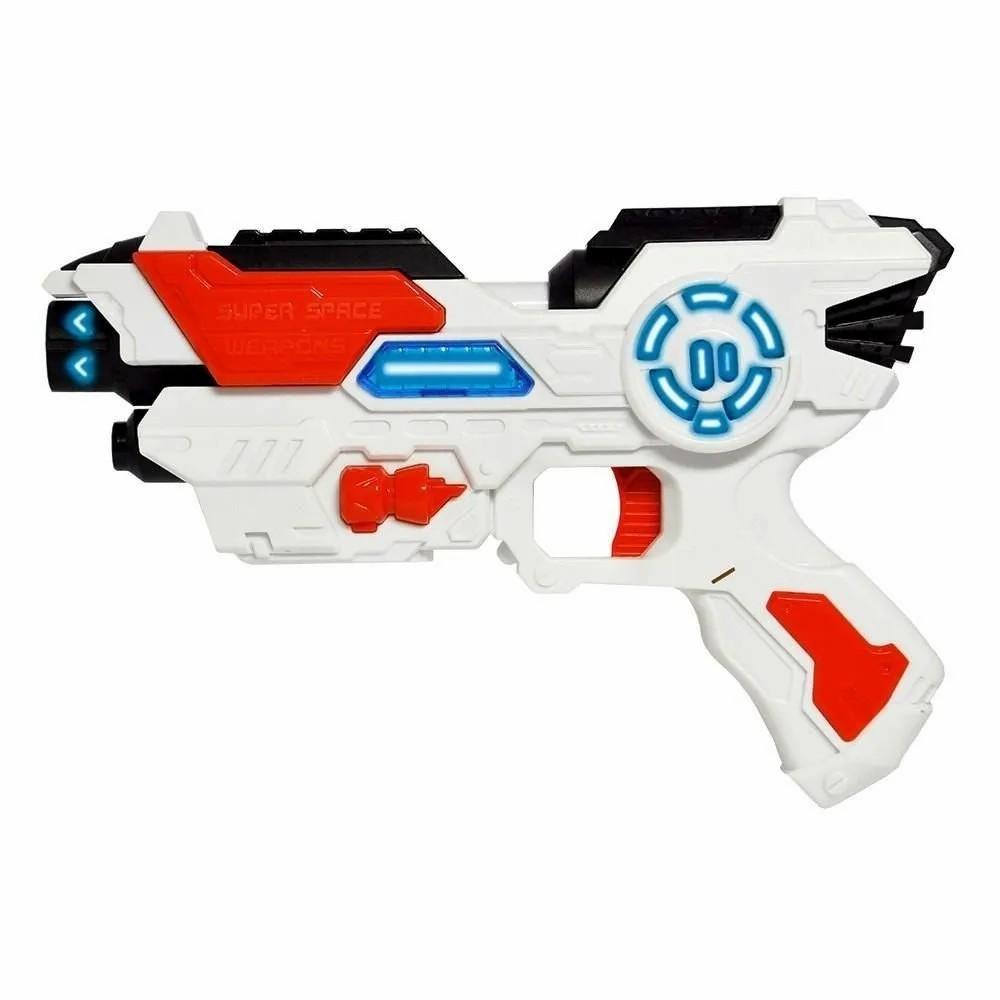 Pistola Space Weapon com Luz e Som - Dm Toys