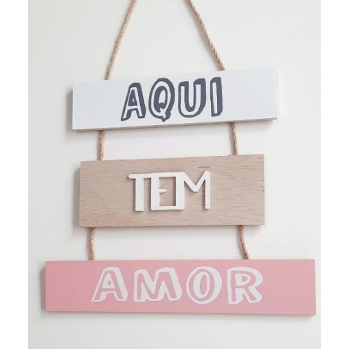 Placa Decorativa Frases de Madeira FWB
