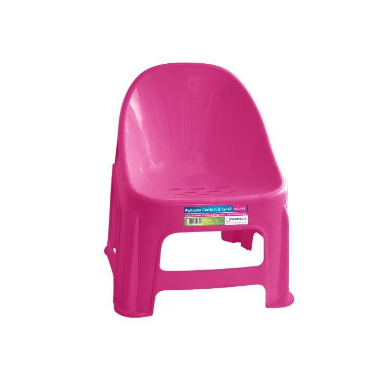 Poltrona de Plástico Infantil Rosa Paramount