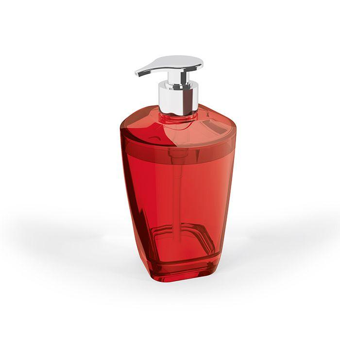 Porta Sabonete Líquido Premium Vermelho Translúcido - UZ