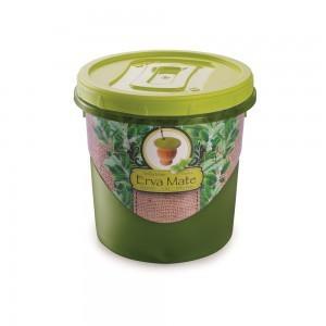 Pote de Plástico Redondo para Erva Mate 1,8 L Mantimentos Rosca Plasútil
