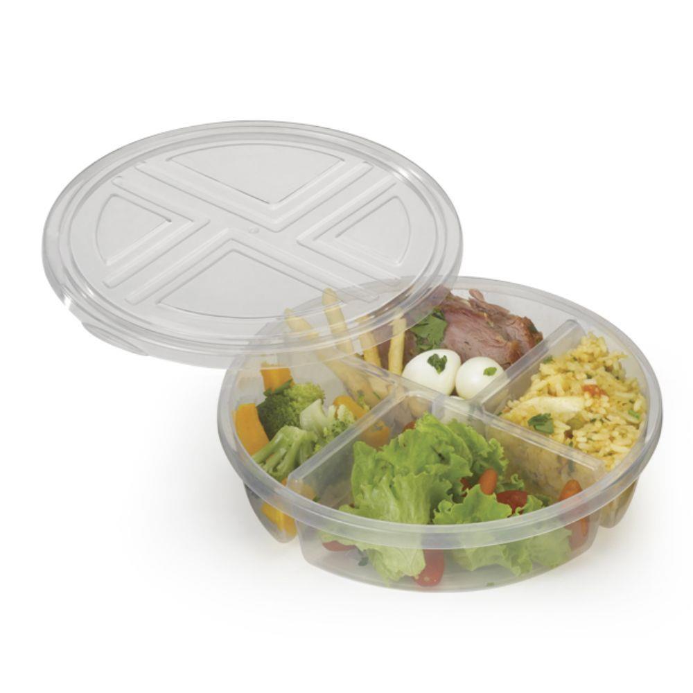 Pote para Conservar Alimentos com 4 Divisórias - Nitron