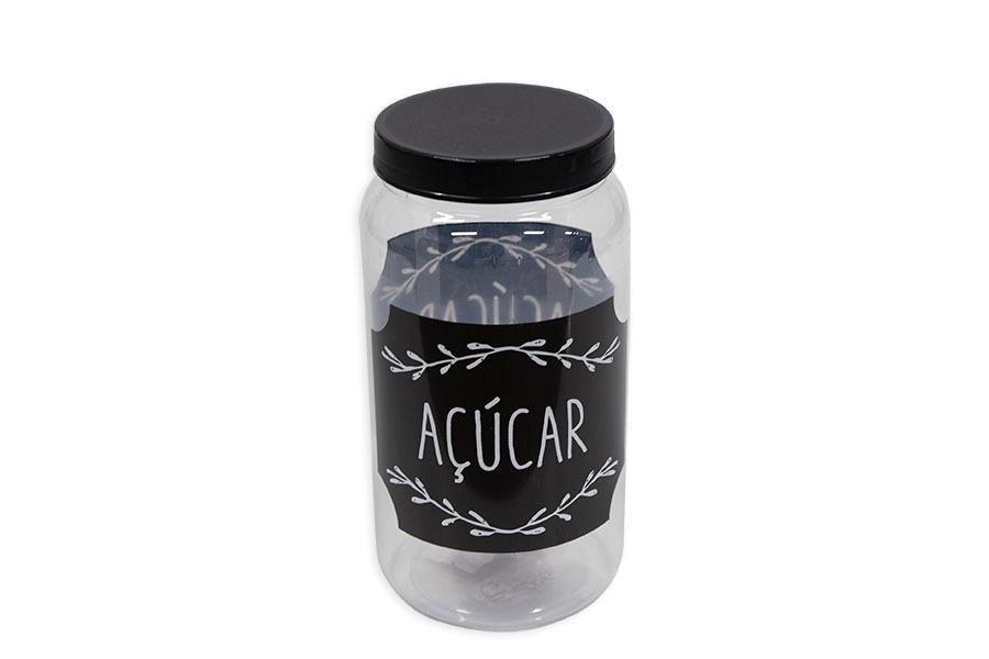 Pote Redondo Açúcar 1,5l - Qpots