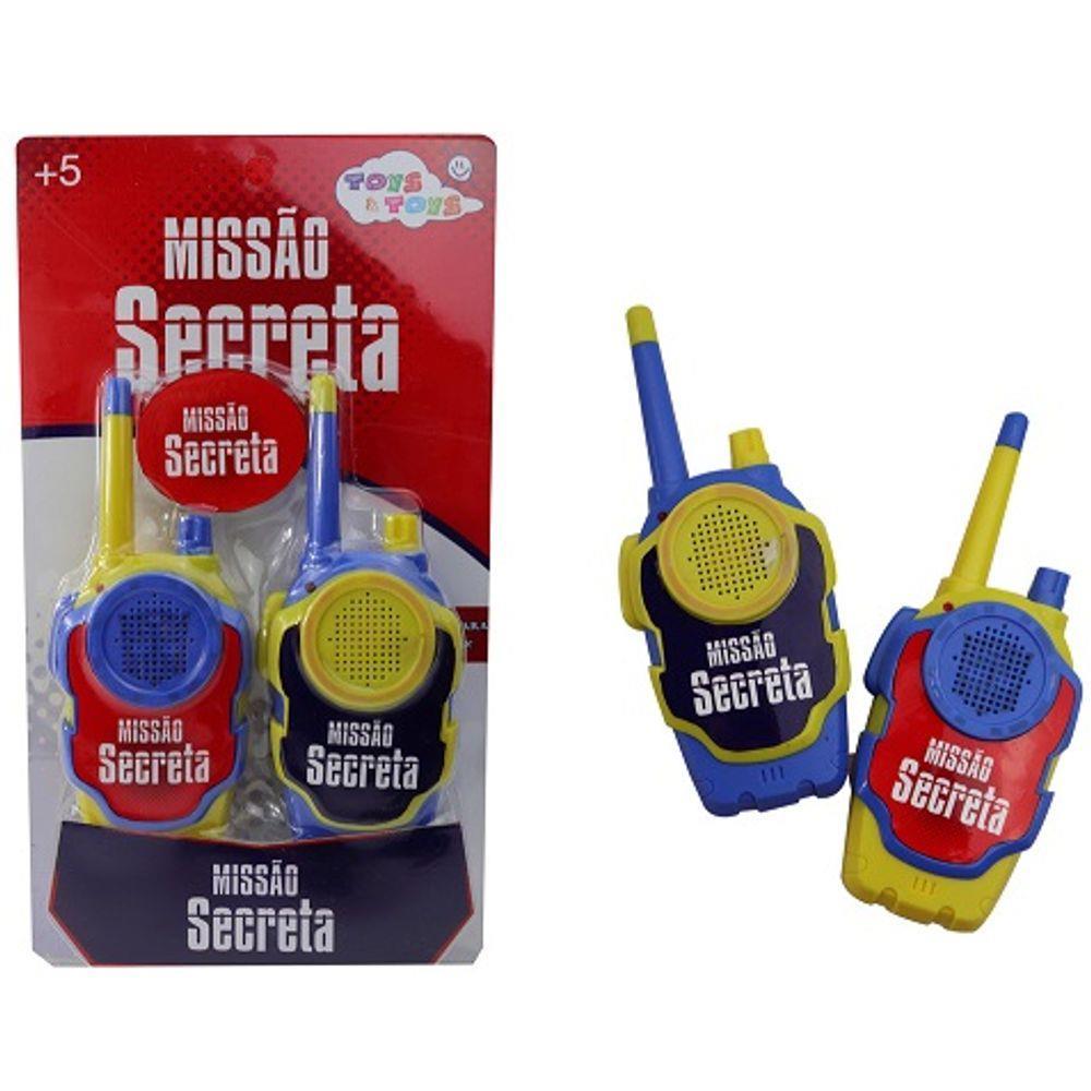 Radio Walkie Talkie Missão Secreta Toys e Toys