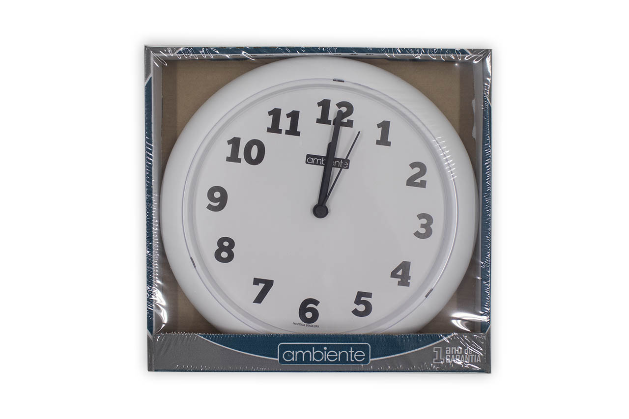 Relógio de Parede 23cm Branco - Ambiente