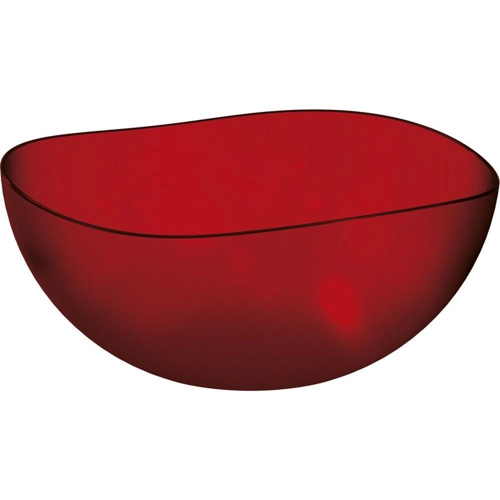 Saladeira 2L Vermelho Plastico UZ