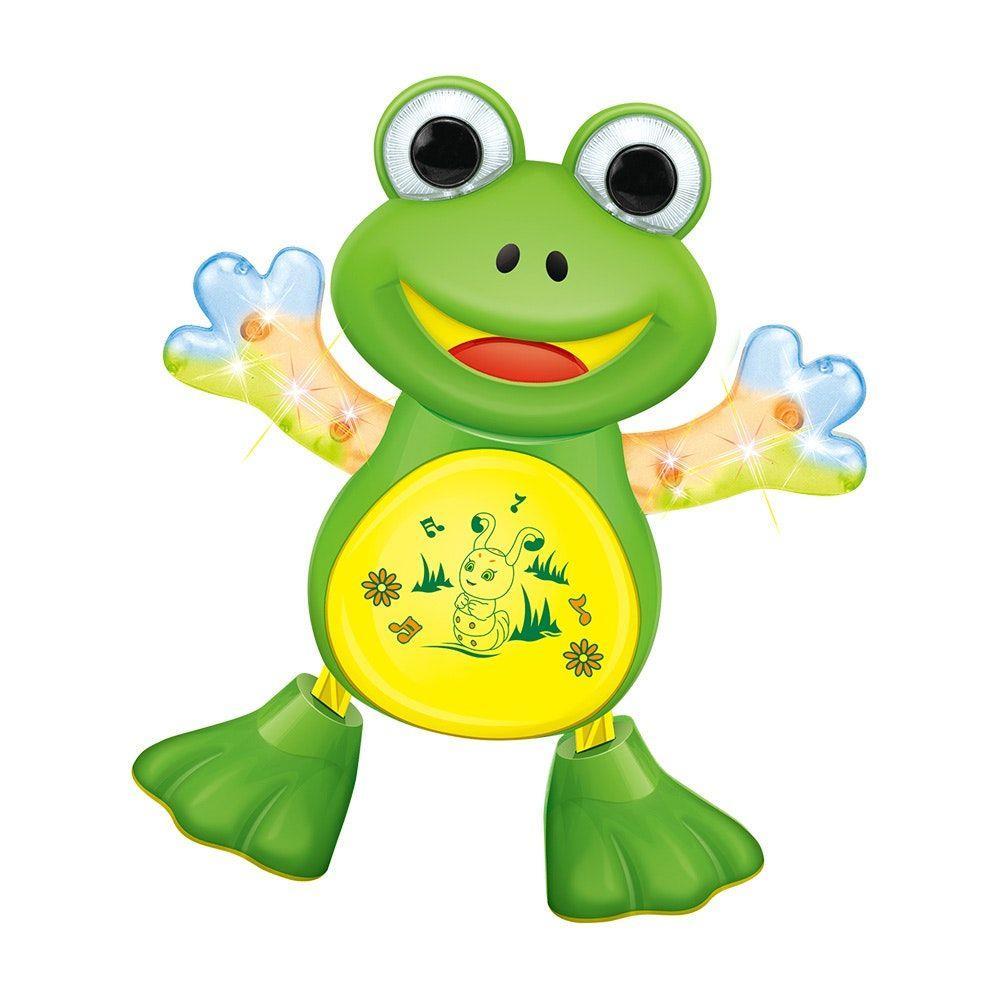 Sapo Dançarino De Brinquedo com Som e Luz DM