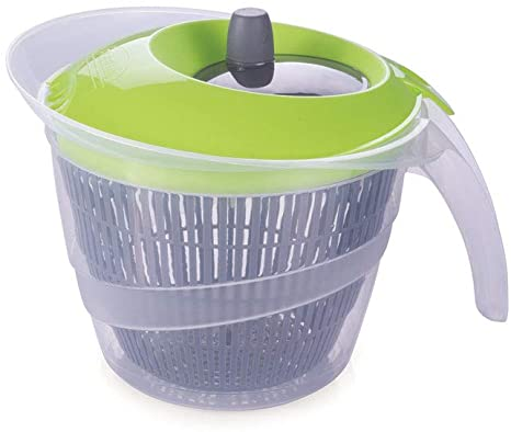 Secador de Salada de Plástico 2,8 L Manual com Cesto para Escorrer Plasútil