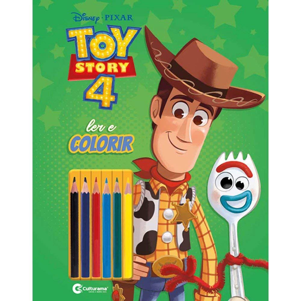 Toy Story 4 Ler e Colorir Com Lápis - Culturama