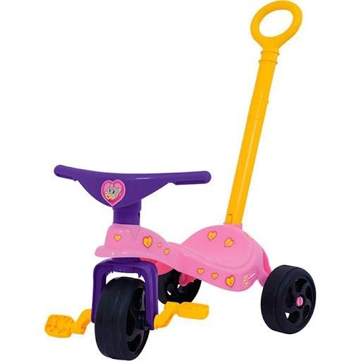 Triciclo de Passeio Fofinha com Empurrador Xalingo