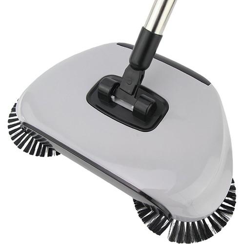 Vassoura Mágica 360º Inox e Plástico Limpeza Prática Max Clean