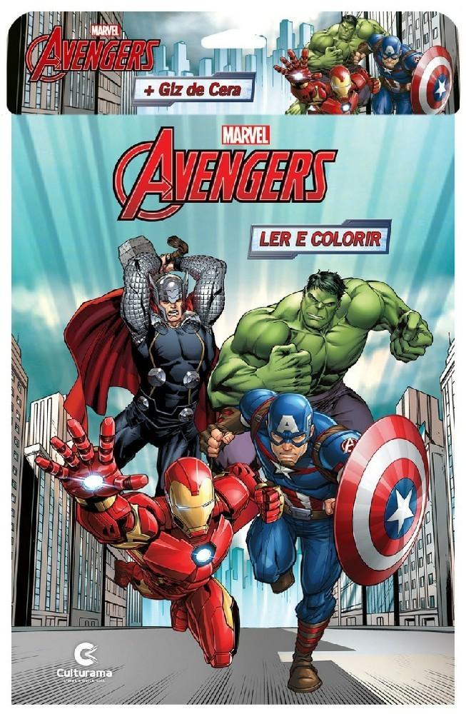 Vingadores Ler e colorir com Giz - Culturama