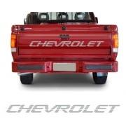 Emblema Adesivo Chevrolet D20 Para Tampa Traseira Prata