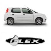 Emblema Adesivo Resinado Fiat Flex