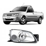 Farol Direito Ford Fiesta Street Courier 2000/2002 Cristal