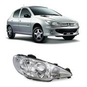 Farol Direito Peugeot 206 2003 Em Diante Liso