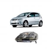 Farol Duplo Esquerdo Volkswagen Fox 2004/2010 Máscara Negra