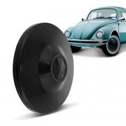 Jogo 4 Calotas Roda Fusca Kombi Preta Modelo Original