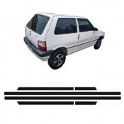 Jogo Friso Estreito Colante Fiat Uno 2 Portas Até 1995