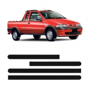 Jogo Friso Fiat Strada Cabine Simples 2001 Em Diante