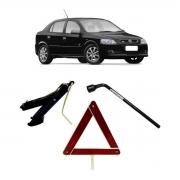 Kit Estepe Chave 17mm + Triângulo + Macaco Chevrolet Astra