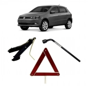 Kit Estepe Chave 17mm + Triângulo + Macaco Volkswagen Gol