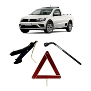 Kit Estepe Chave 17mm + Triângulo + Macaco Vw Saveiro