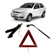 Kit Estepe Chave 19mm + Triângulo + Macaco Fiat Palio
