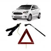 Kit Estepe Chave 19mm + Triângulo + Macaco Ford Ka