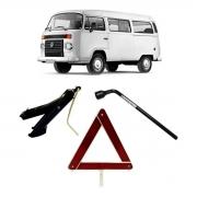Kit Estepe Chave 19mm + Triângulo + Macaco Volkswagen Kombi