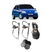 Kit Vidro Elétrico Dianteiro Renault Clio 1999/ 2 Portas