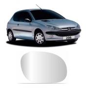 Lente Espelho Retrovisor Direito Peugeot 206 1999/