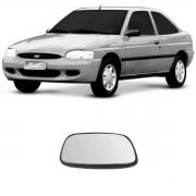 Lente Espelho Retrovisor Esquerdo Escort Fiesta 1997/