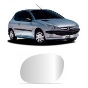 Lente Espelho Retrovisor Esquerdo Peugeot 206 1999/