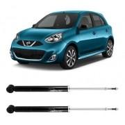 Par Amortecedor Traseiro Nissan March 2012 Até 2016
