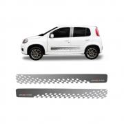 Par De Faixa Latera Fiat Uno Sporting 2013/
