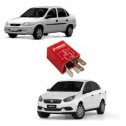 Relé Auxiliar Com Resistor Fiat Chevrolet De 3 Terminais