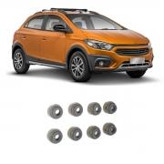 Retentor Válvula Jogo 8 Chevrolet Onix 2012 Em Diante