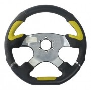 Volante Esportivo Evolution Amarelo 340mm