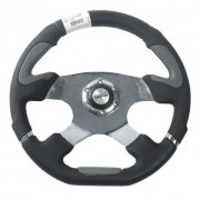 Volante Esportivo Evolution Cinza 340mm