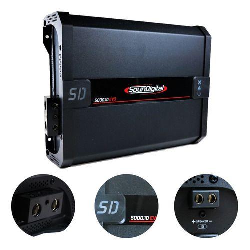 Modulo Soundigital Sd5000w Rms 1 Canal 2 Ohms+adesivo