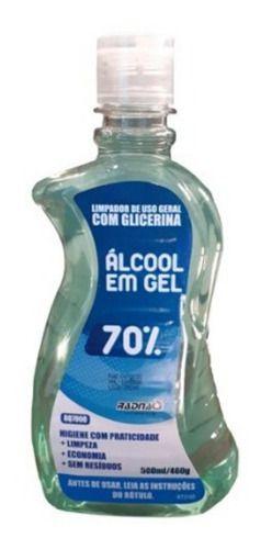 Álcool Gel 70% - 500ml Uso Geral/escritórios/casa