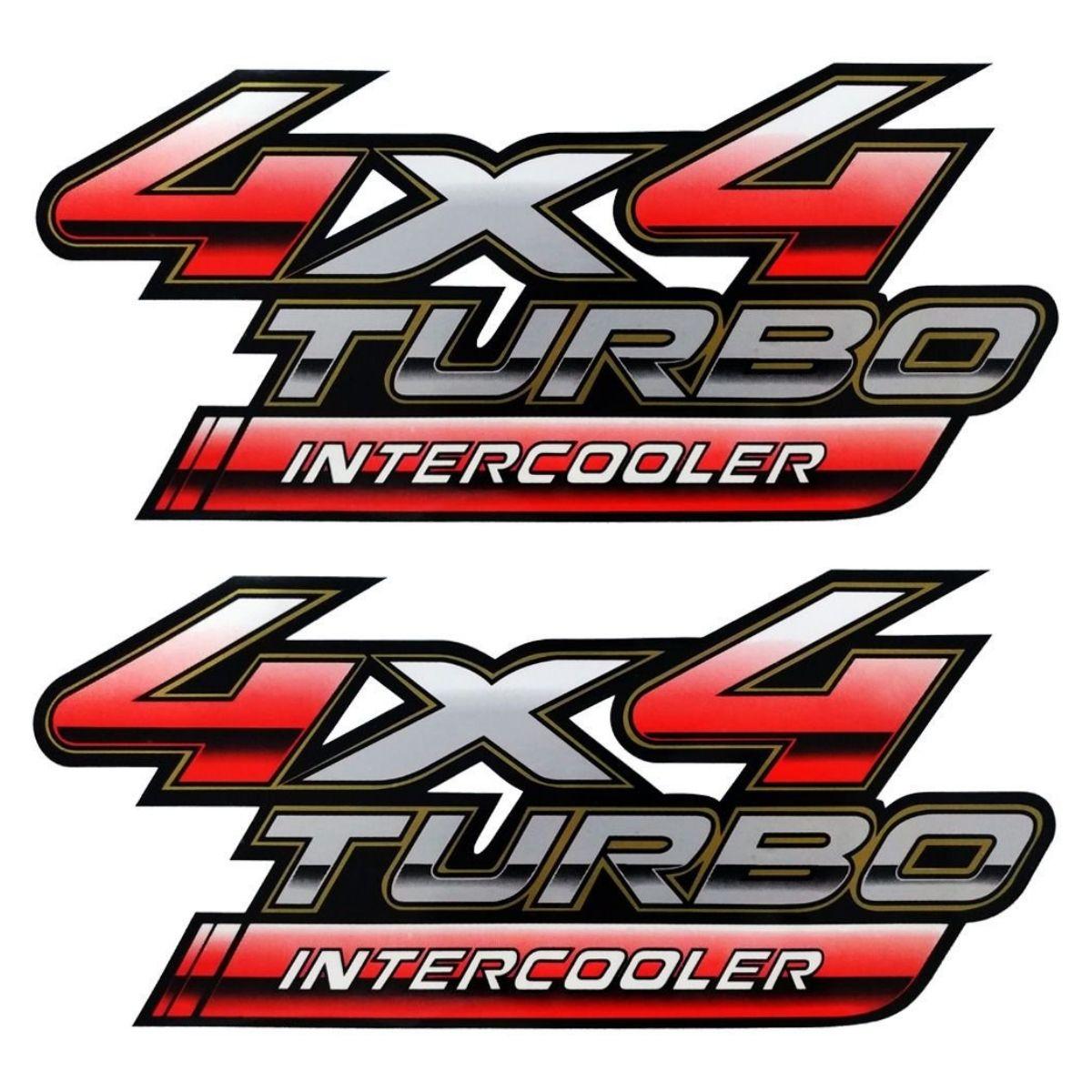 Adesivo Toyota Hilux 4x4 Intercooler Turbo 2009/2012 Par